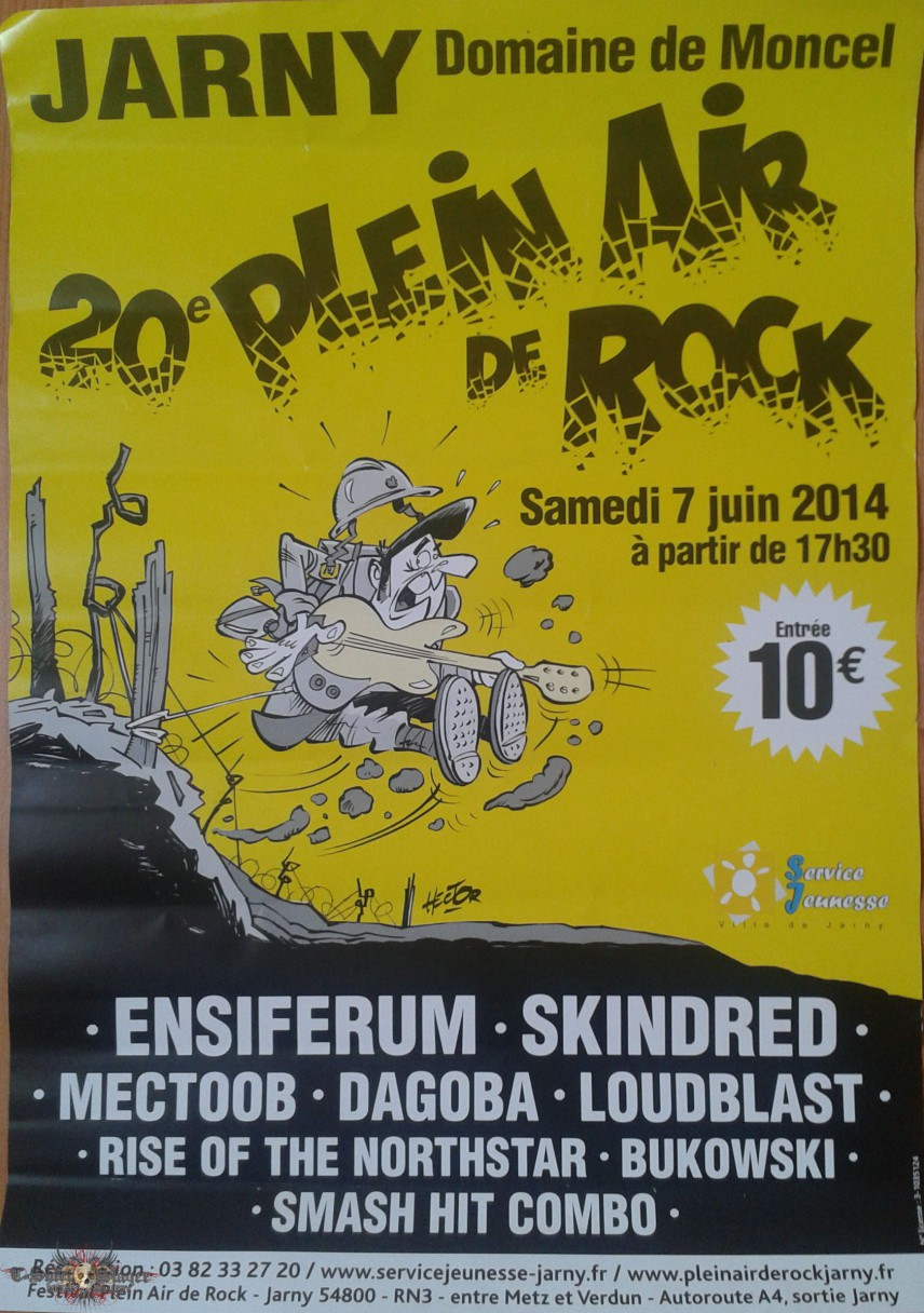 Poster Plein Air de Rock 20th edition