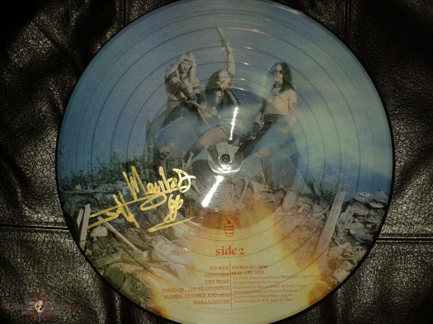 "Venom ""At War with Satan"" picture disc"