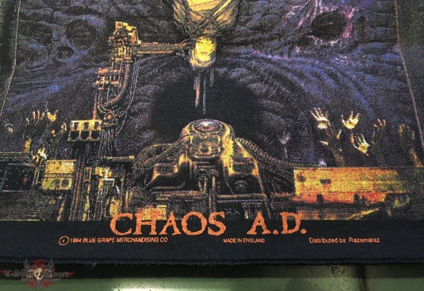 Sepultura - chaos A.D. 1994 OG Blue Grape Backpatch