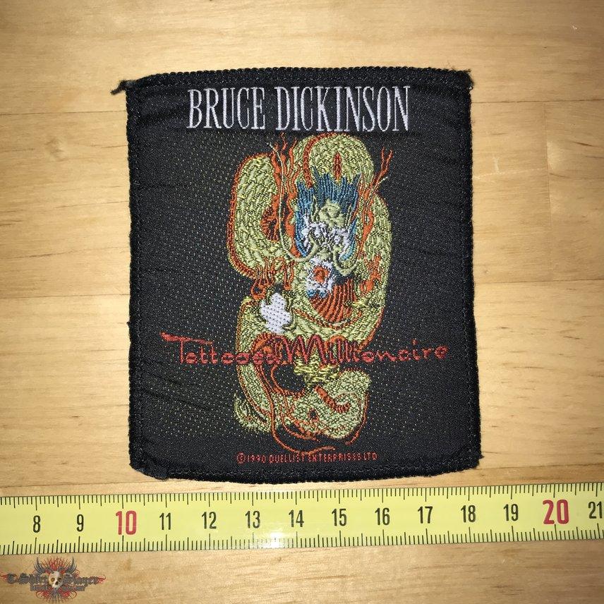 Bruce Dickinson - Tattooed Millionnaire Patch OG 1990