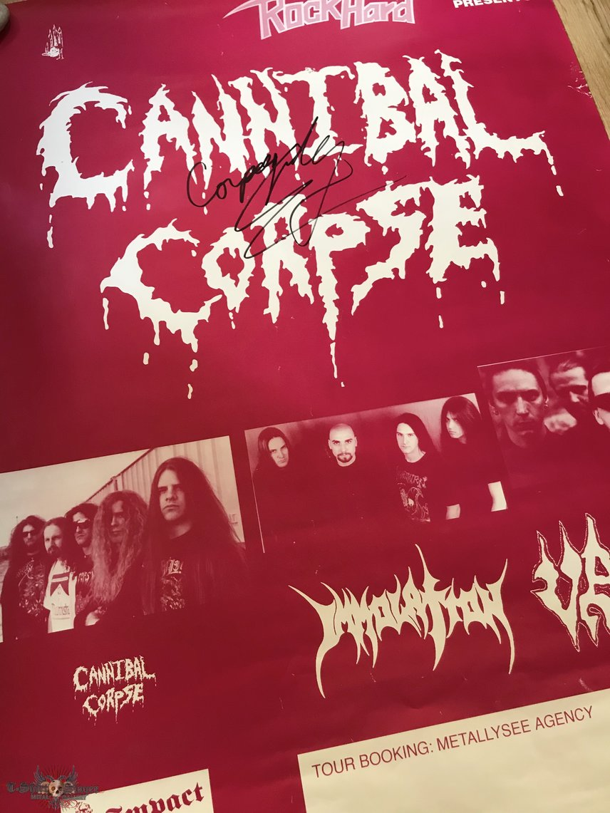 Cannibal Corpse - European Tour 1996 Poster Gig