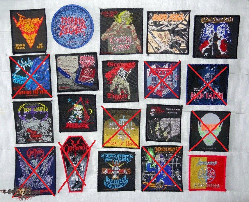 Venom,Sodom,Obituary,Morbid Angel,Cannibal Corpse,Grave Digger,Mortal Sin,Warlock,Testament,Overkill,Accept,Flotsm Jetsm,Megadeth,Blind Guardian,Kreator,Iced Earth