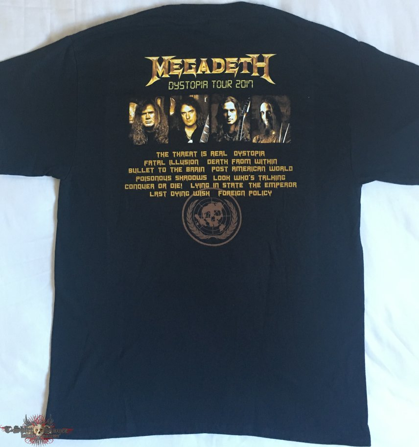 megadeth 39 dystopia world tour 2017 39 t shirt tshirtslayer tshirt and battlejacket gallery. Black Bedroom Furniture Sets. Home Design Ideas
