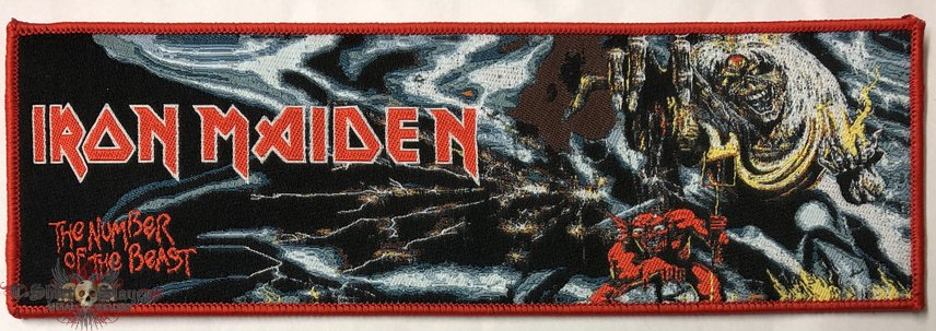 Iron Maiden 'The Number of the Beast' strip patch