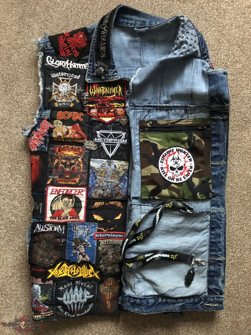 The Clairvoyant's blue Battle Jacket, November 2019