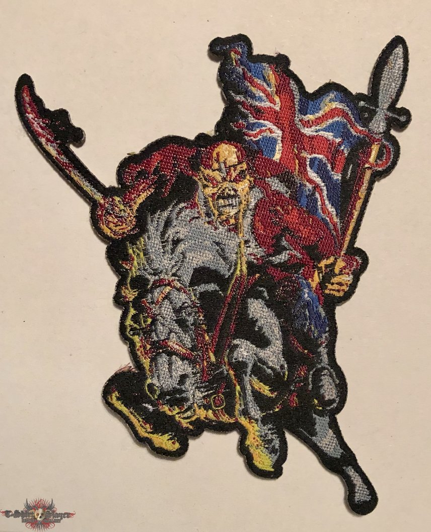 Iron Maiden 'Mounted Trooper / Maiden England' patch