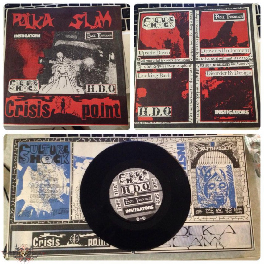"Polka Slam/Crisis Point split zine 7"" compilation 1988"