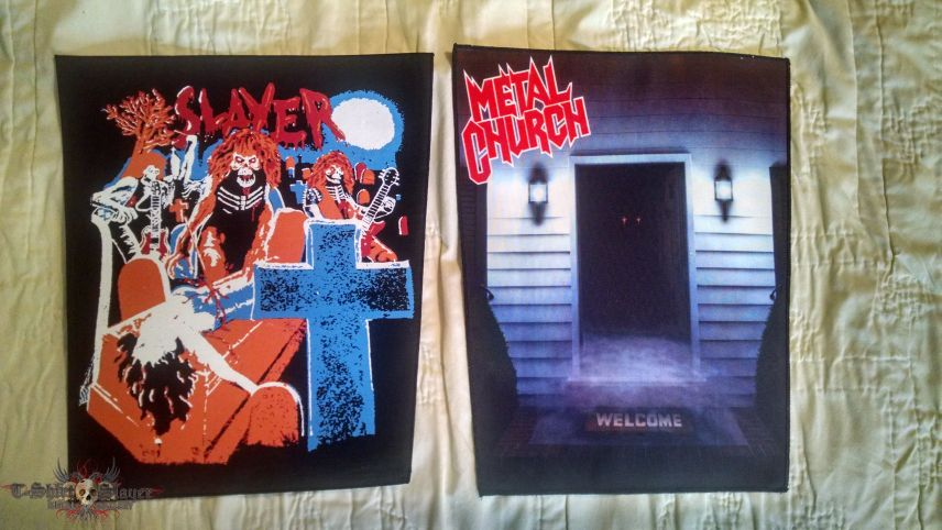 Slayer and Metal Church Back Patches