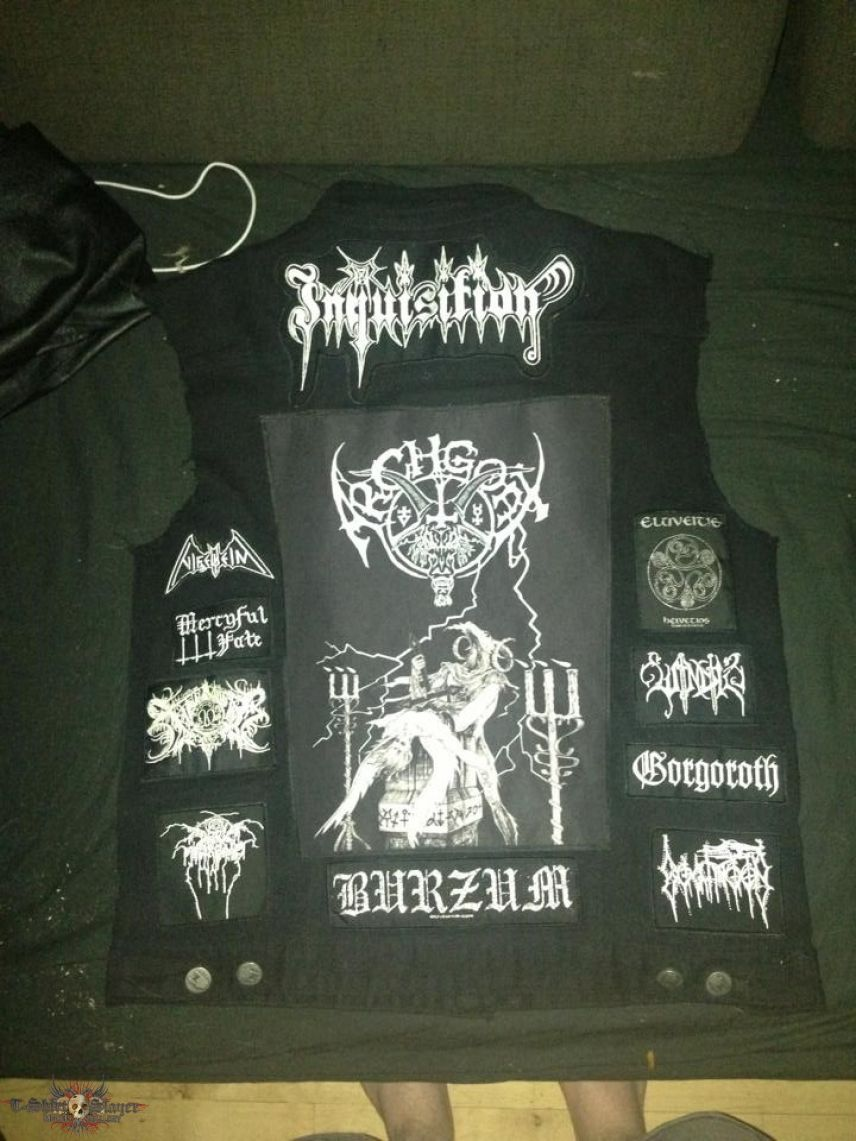 Black metal battle jacket