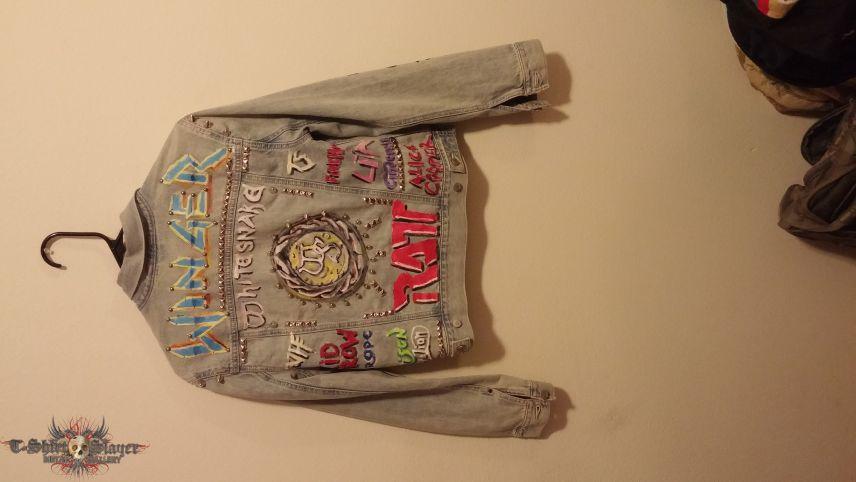 Hair Metal Denim Jacket | TShirtSlayer TShirt and