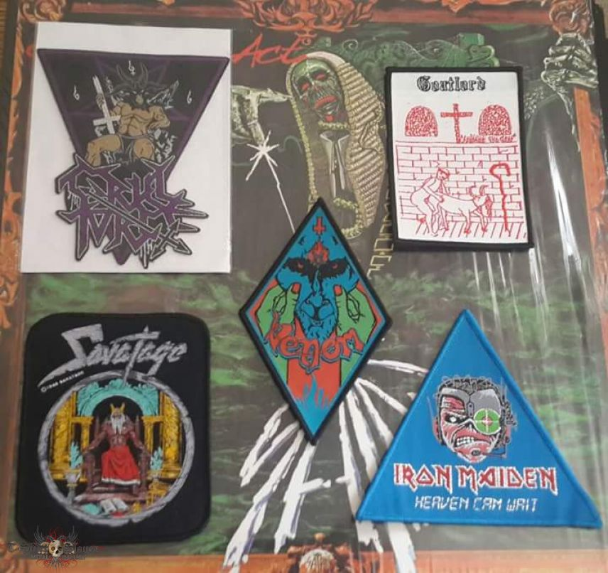 Venom, Cruel Force, Goatlord, Savatage And Iron Maiden Patches!