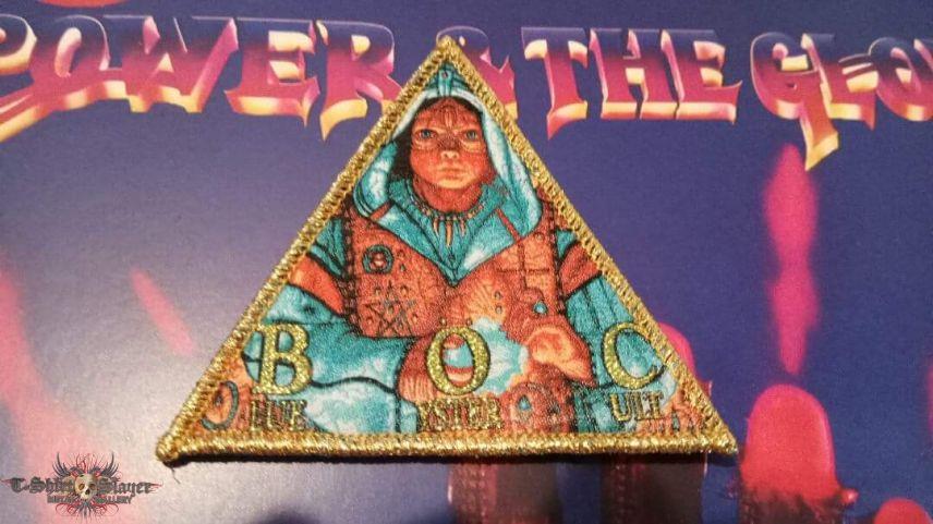 BLUE ÖYSTER CULT Fire Of Unknown Origin woven bootleg patch (golden