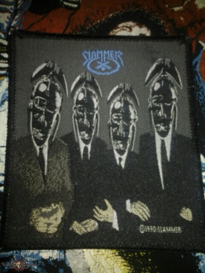 Slammer - The Work of Idle Hands vintage woven patch