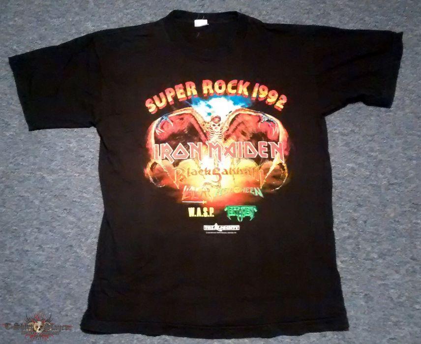 Häufig Iron Maiden - Super Rock Mannheim 1992 T-Shirt | TShirtSlayer IZ22