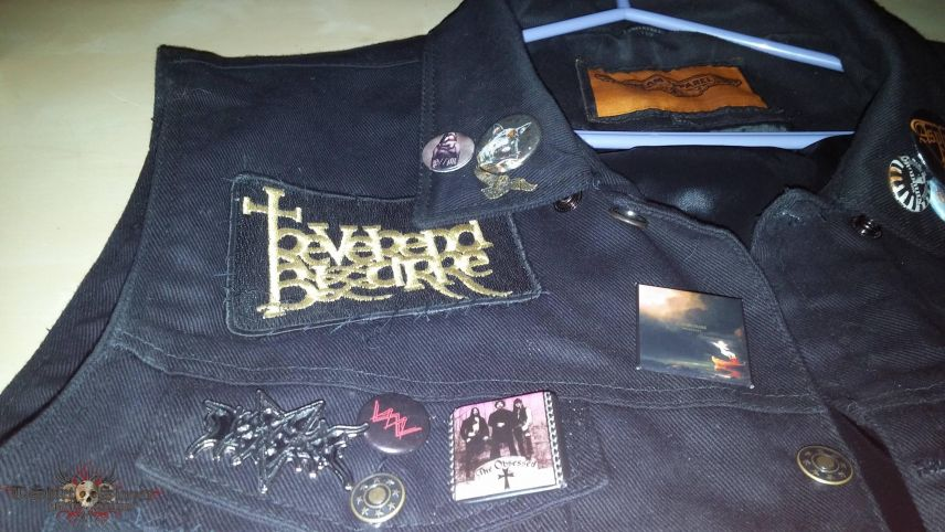 New black denim vest