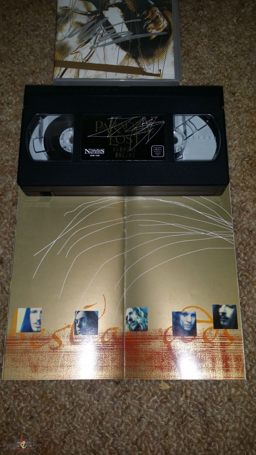 Paradise Lost-Harmony Breaks VHS Signed