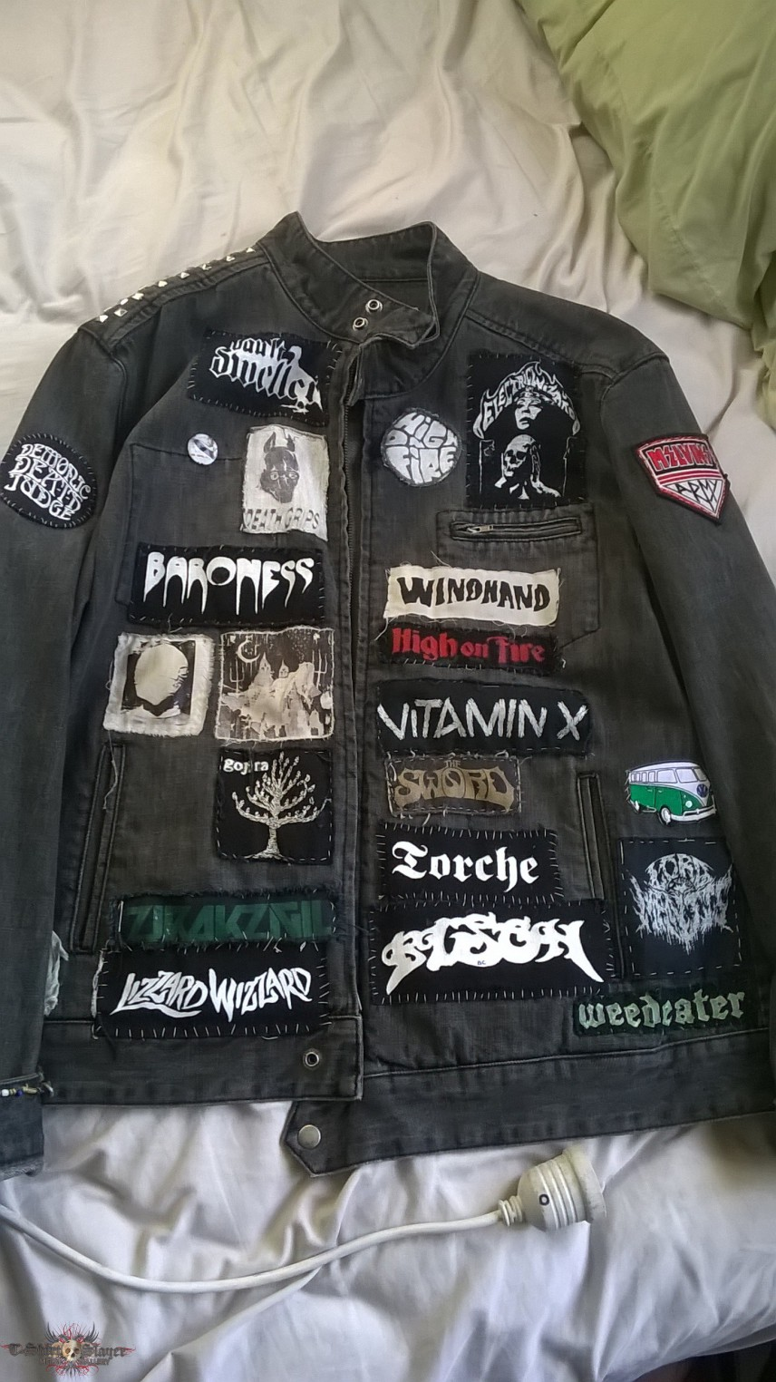 First Battle Jacket I Made Mostly Diy Patches
