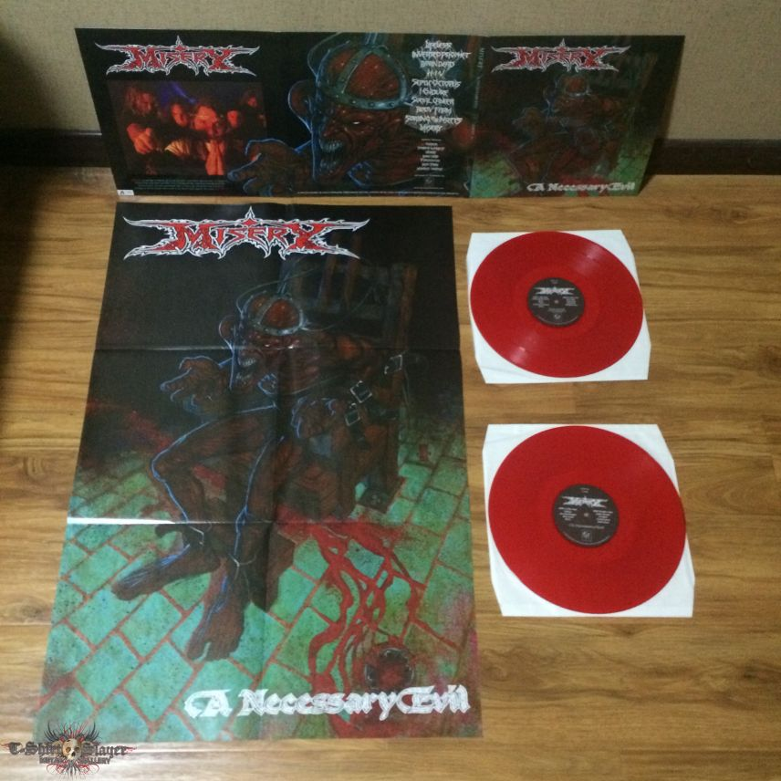 Misery - A Necessary Evil Red Vinyl