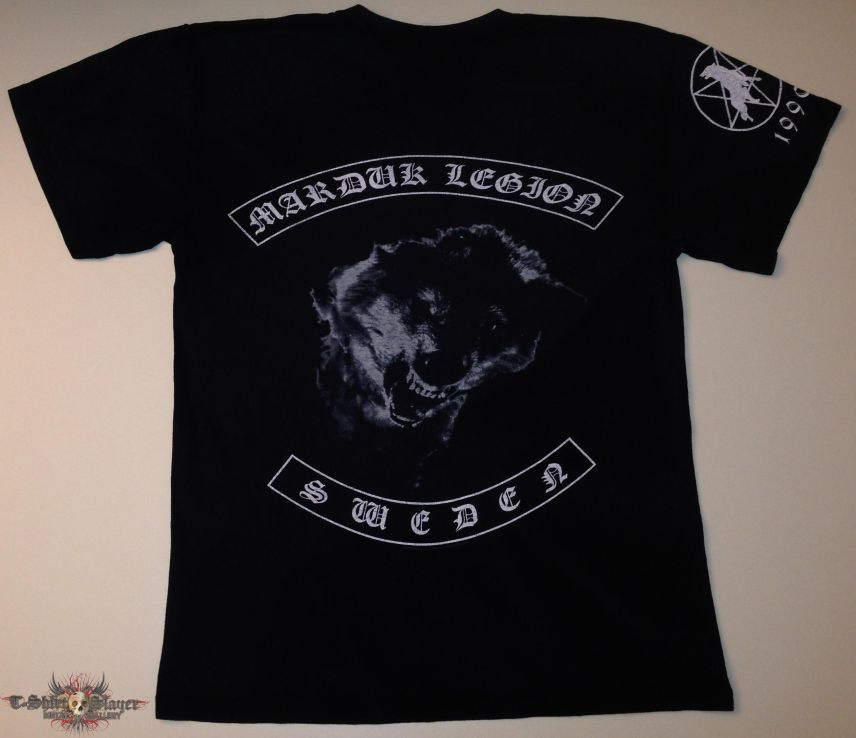 """Marduk """"Legion Sweden"""" Shirt (Size Large)"""