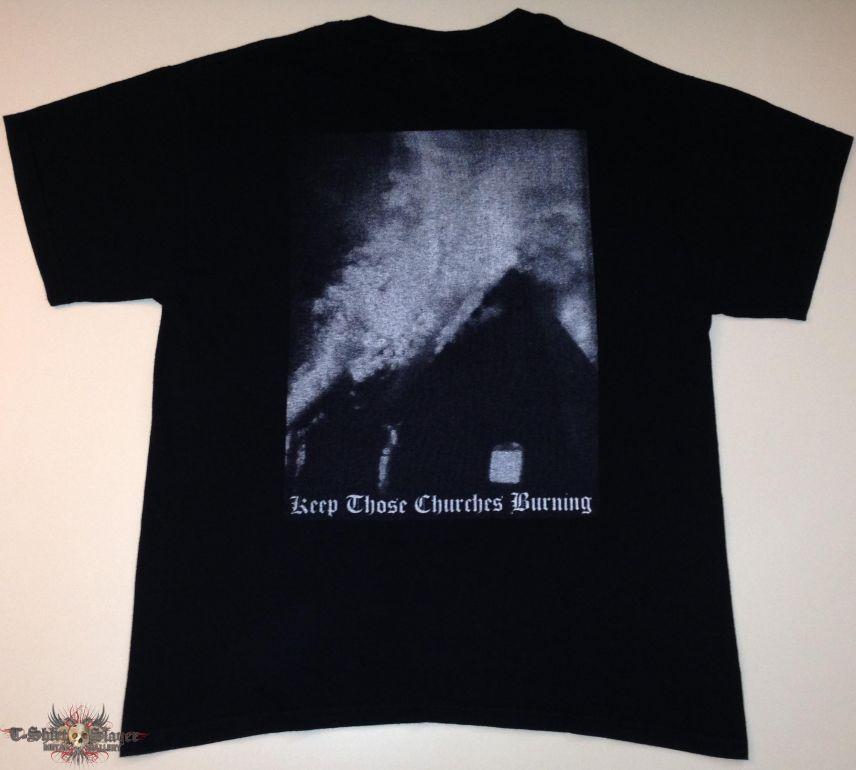 """Angantyr """"Keep Those Churches Burning"""" Shirt (Size Large)"""