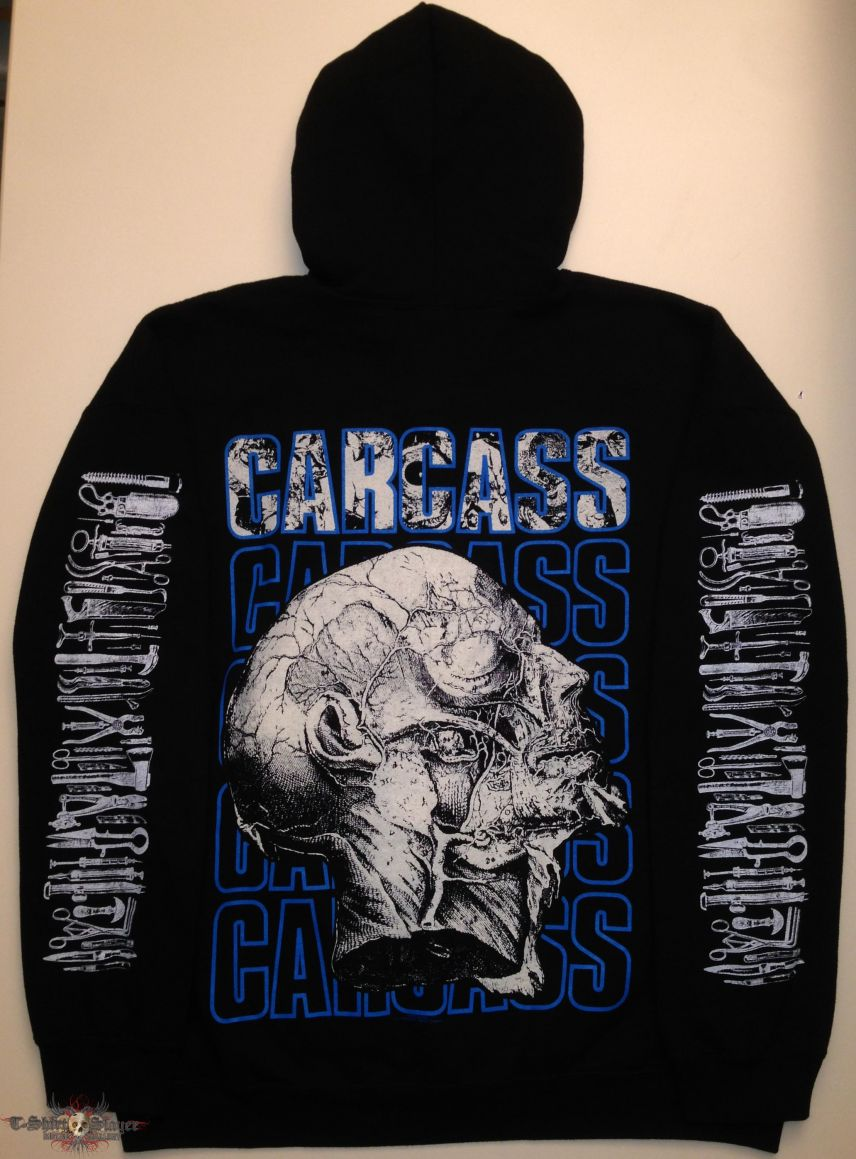 Carcass Zip Hoodie (Size Extra Large)