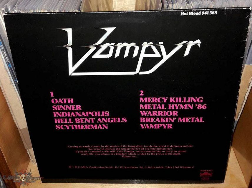 Vampyr - Cry Out For Metal 1985