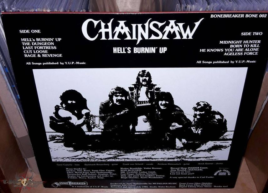 Chainsaw - Hell's Burnin Up 1985