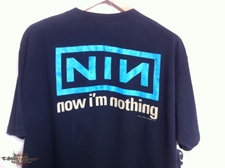 NINE INCH NAILS - Pretty Hate Machine - \'Now I\'m Nothing\' Shirt 1994 ...