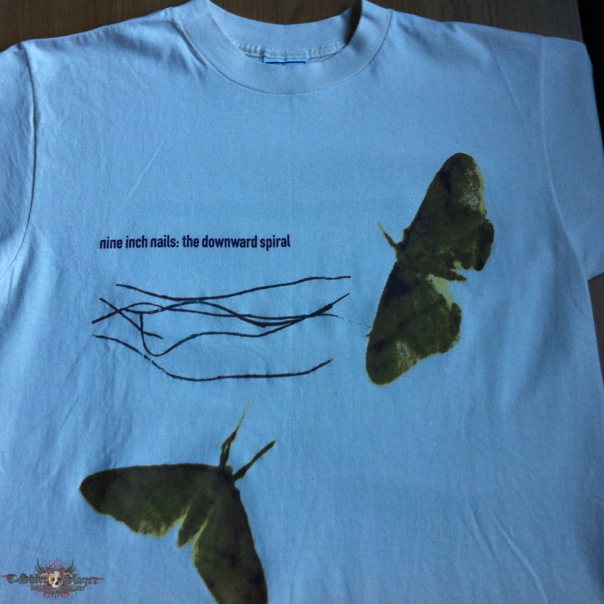 NINE INCH NAILS - The Downward Spiral - Moth Shirt - 1994 ...