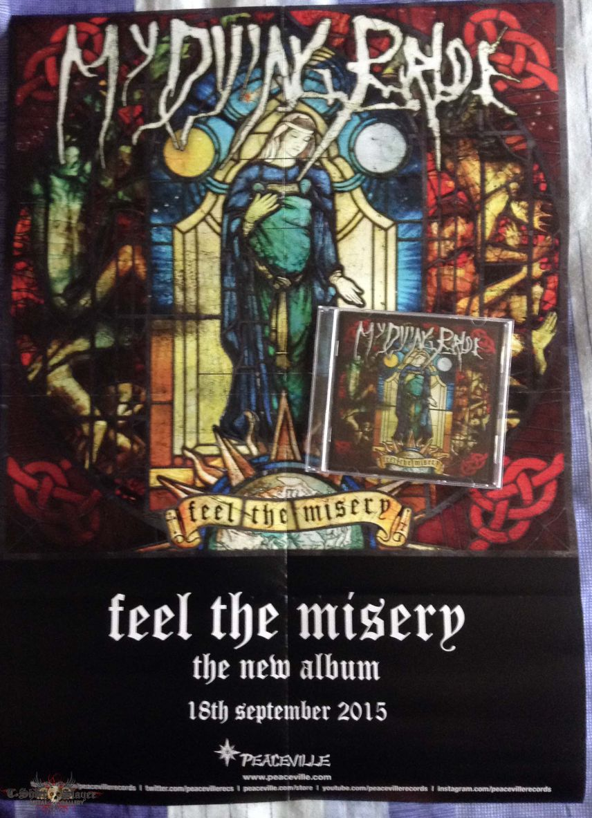 My Dying Bride 'Feel The Misery' Promo Poster & CD