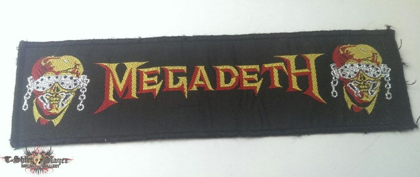 Megadeth - Logo and Vic Strip