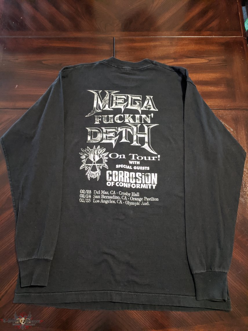 Megadeth 1995 Feed the Hungry Tour Dates LS parking lot