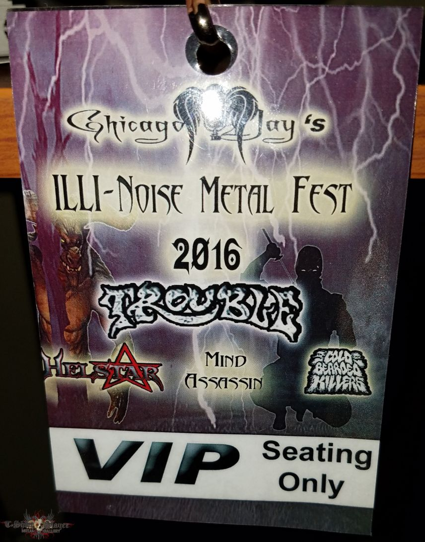 Illi-Noise Metal Fest VIP Badge
