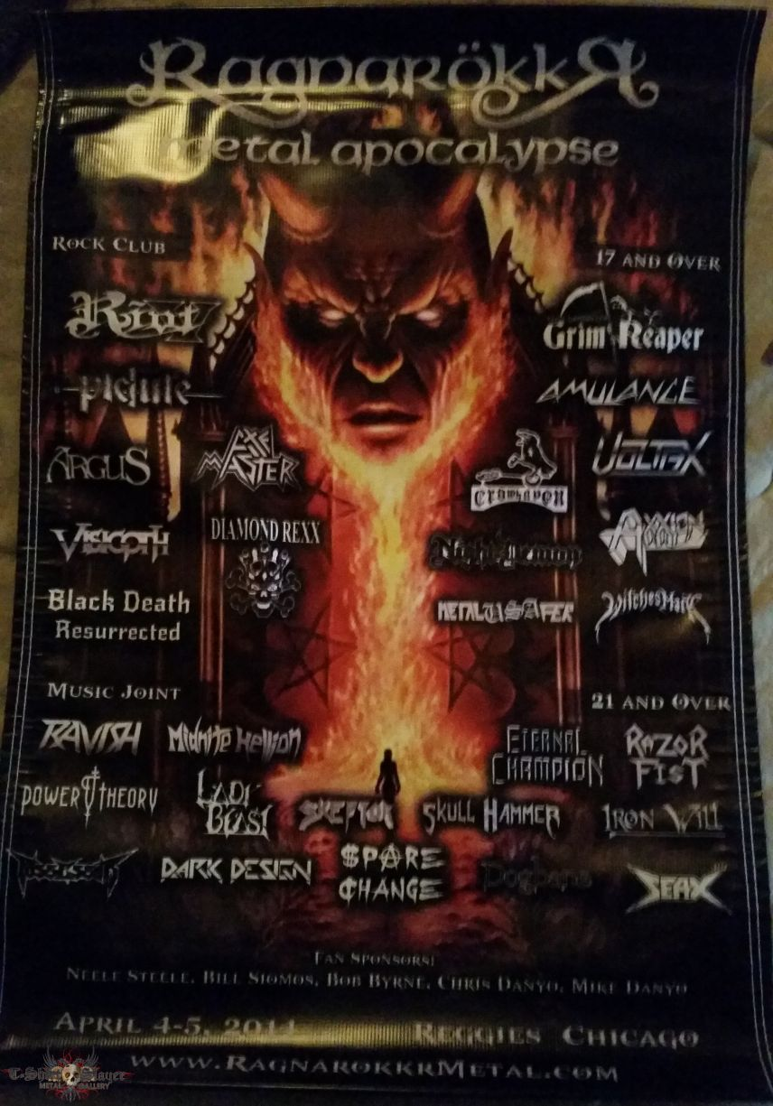 Ragnarokkr 2014 fabric poster