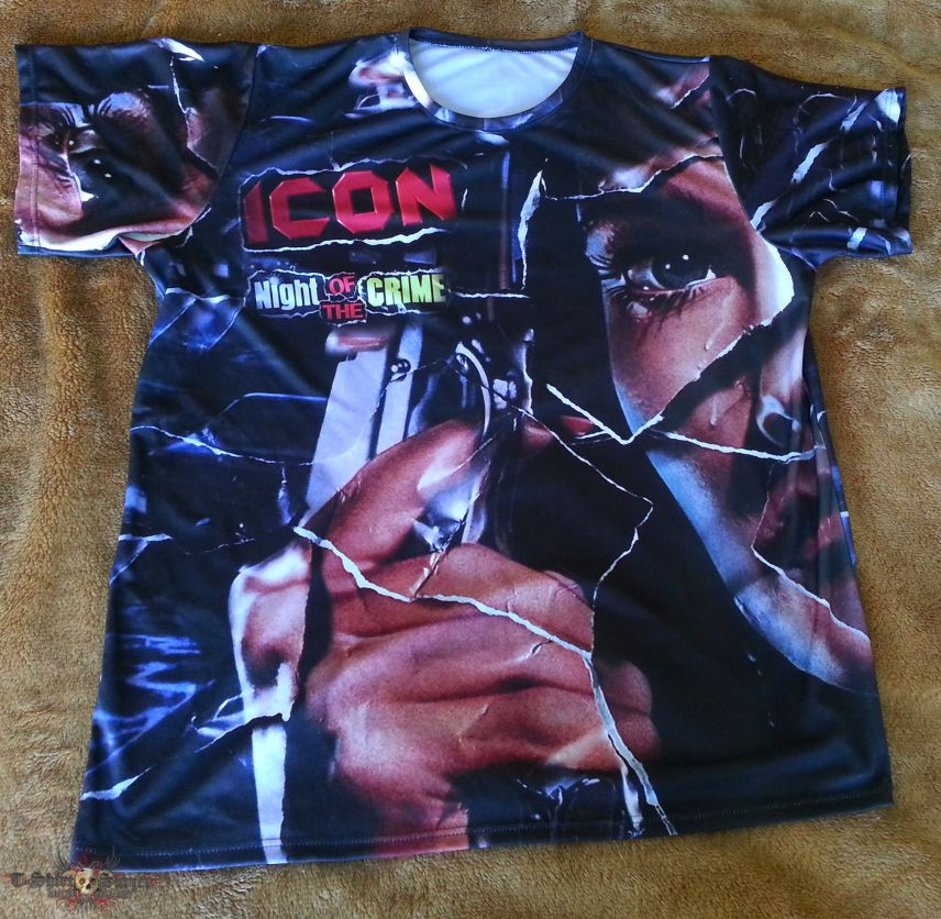 Icon 'Night of the Crime' all over double sided shirt