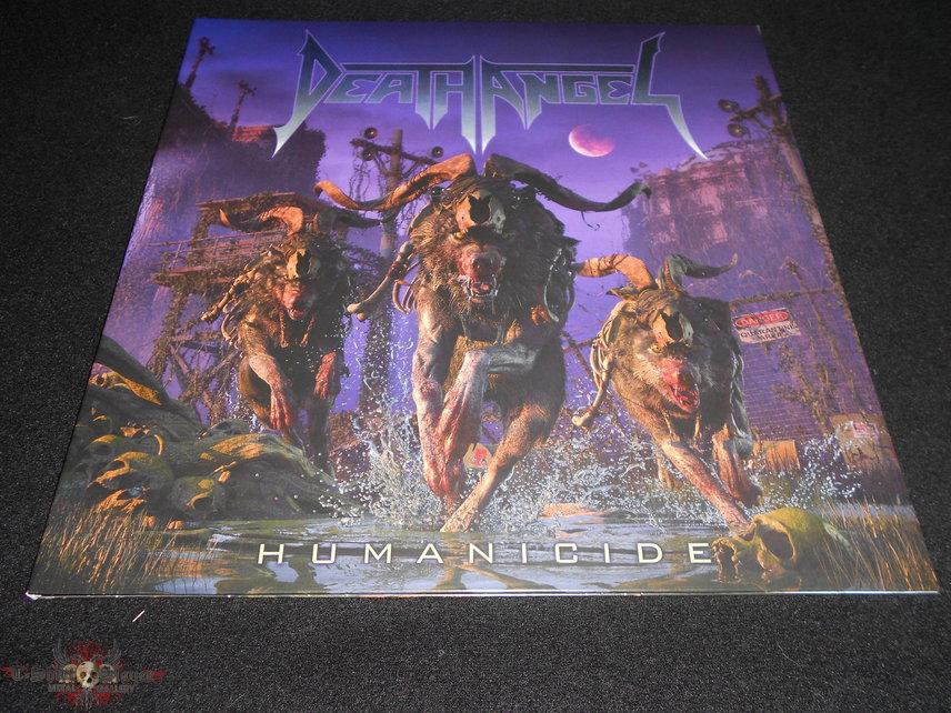 Death Angel / Humanicide  Green Bottle With Purple Splatter LP