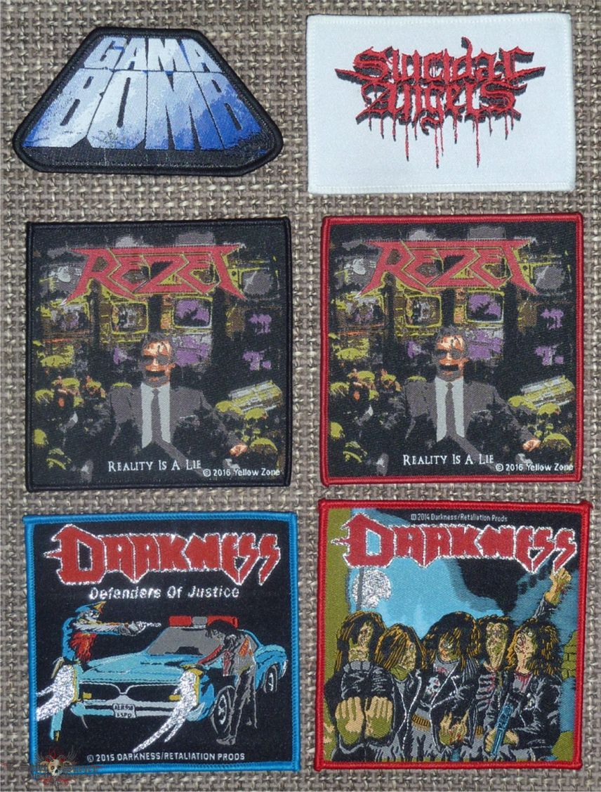 Mixed Thrash Metal Original Patches