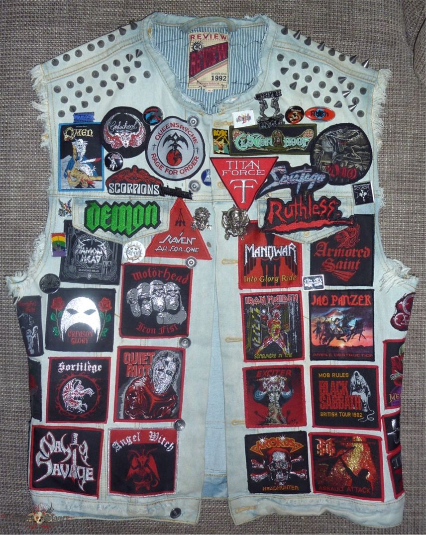 My NWOBHM and 80's Heavy Metal Battle Vest