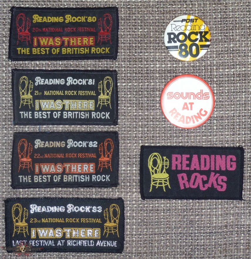 READING ROCK 1980- '83 Festival Woven Patch Collection