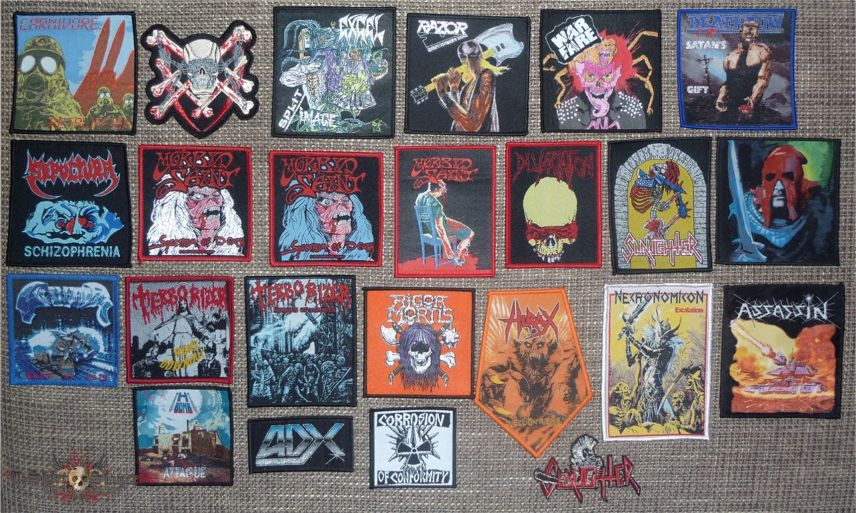Mixed Thrash Metal Bootleg Patches