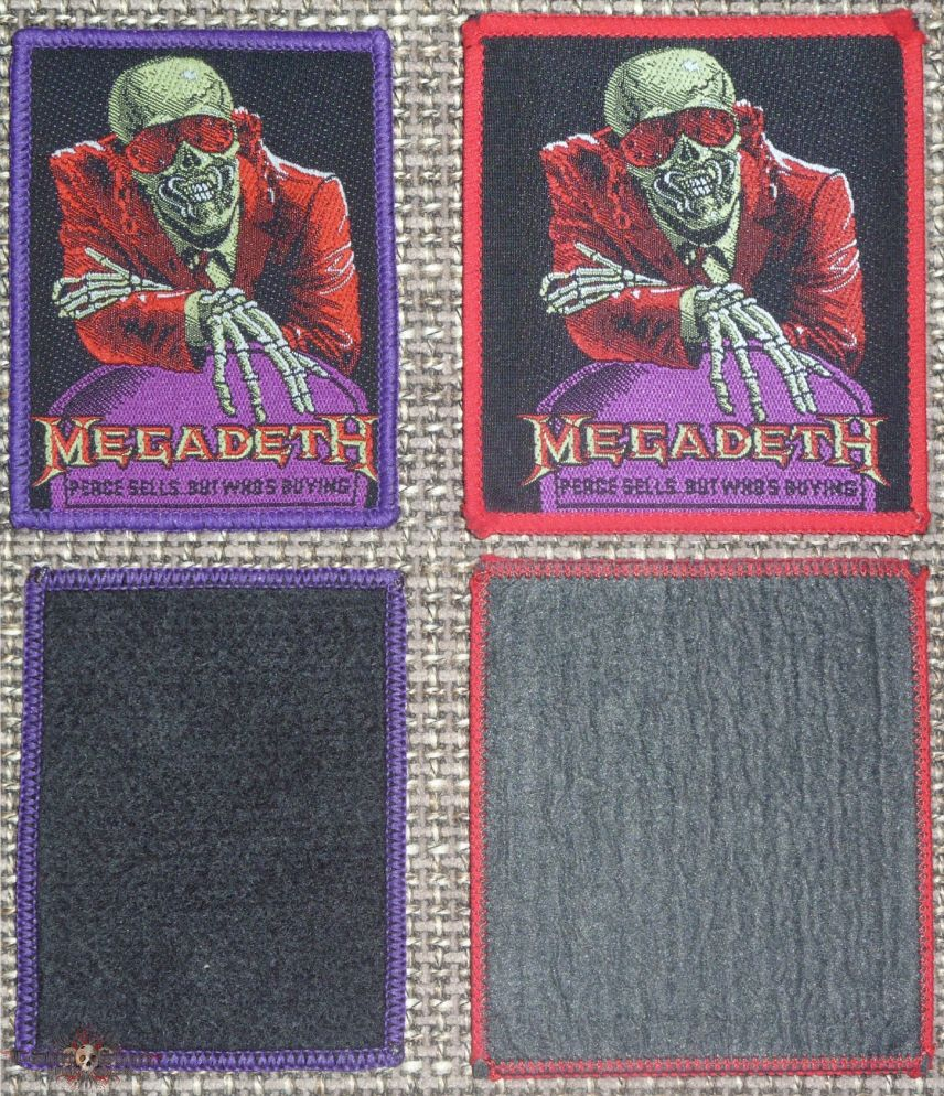 Megadeth Peace Sells But Who's Buying FAKE Purple Border Patch by Iced_Minotaur