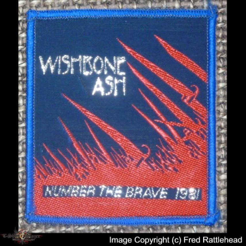 Wishbone Ash Number the Brave Original Woven Patch