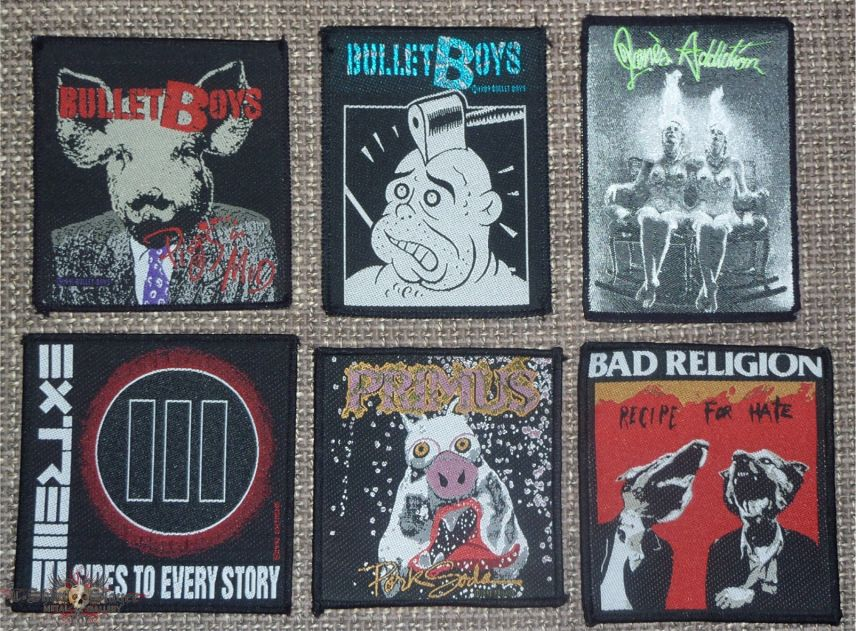 Misc Original Vintage Rock and Hardrock Patches