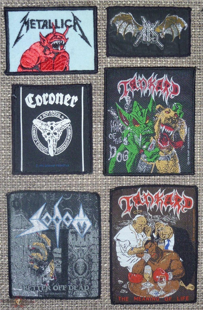Rare Original Death and Thrash Metal Patches