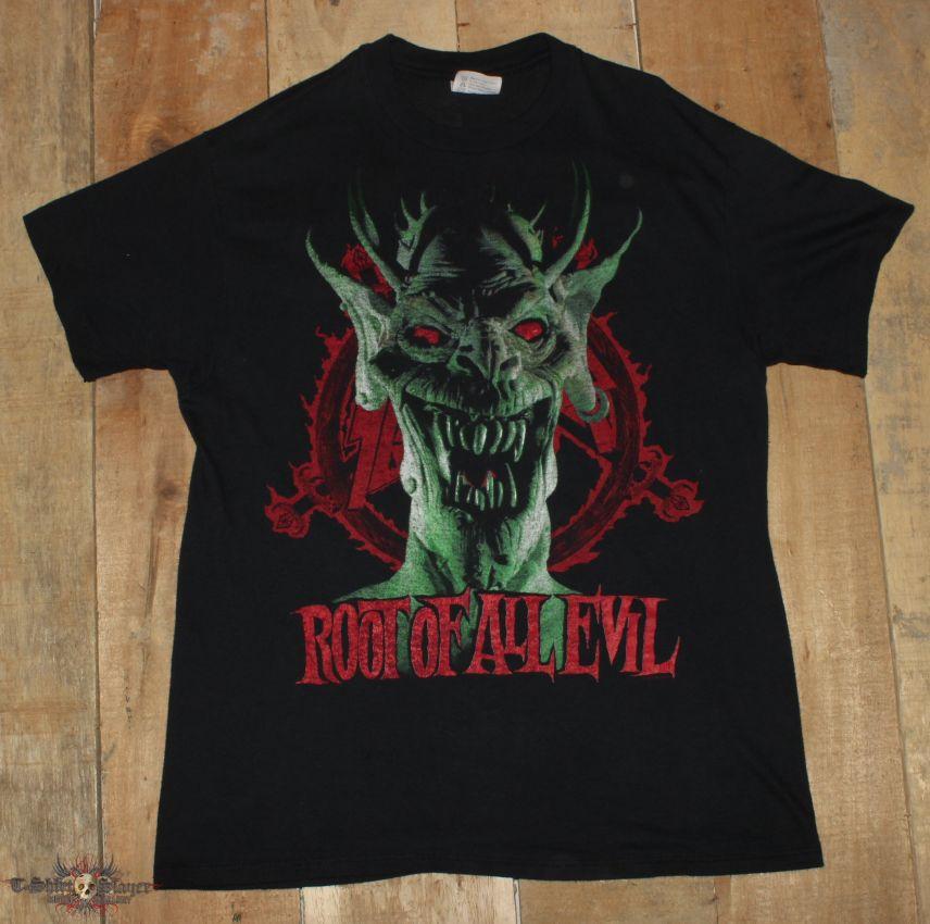 "Slayer ""Root Of All Evil"" Vintage Shirt"