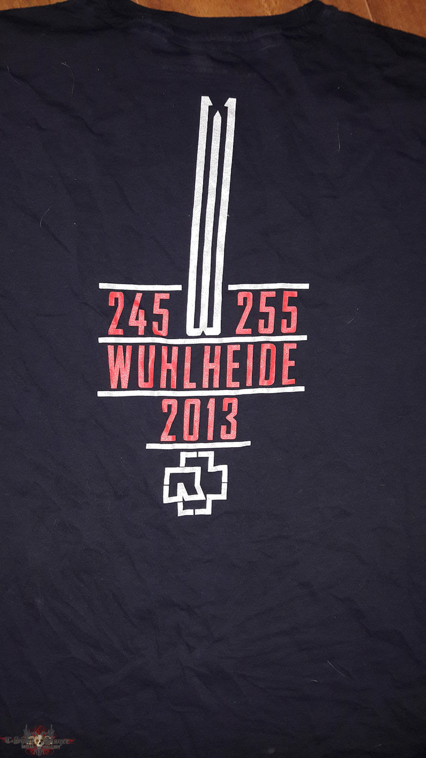 Tourshirt for the 2 concerts at Wuhlheide in Berlin in May 2013