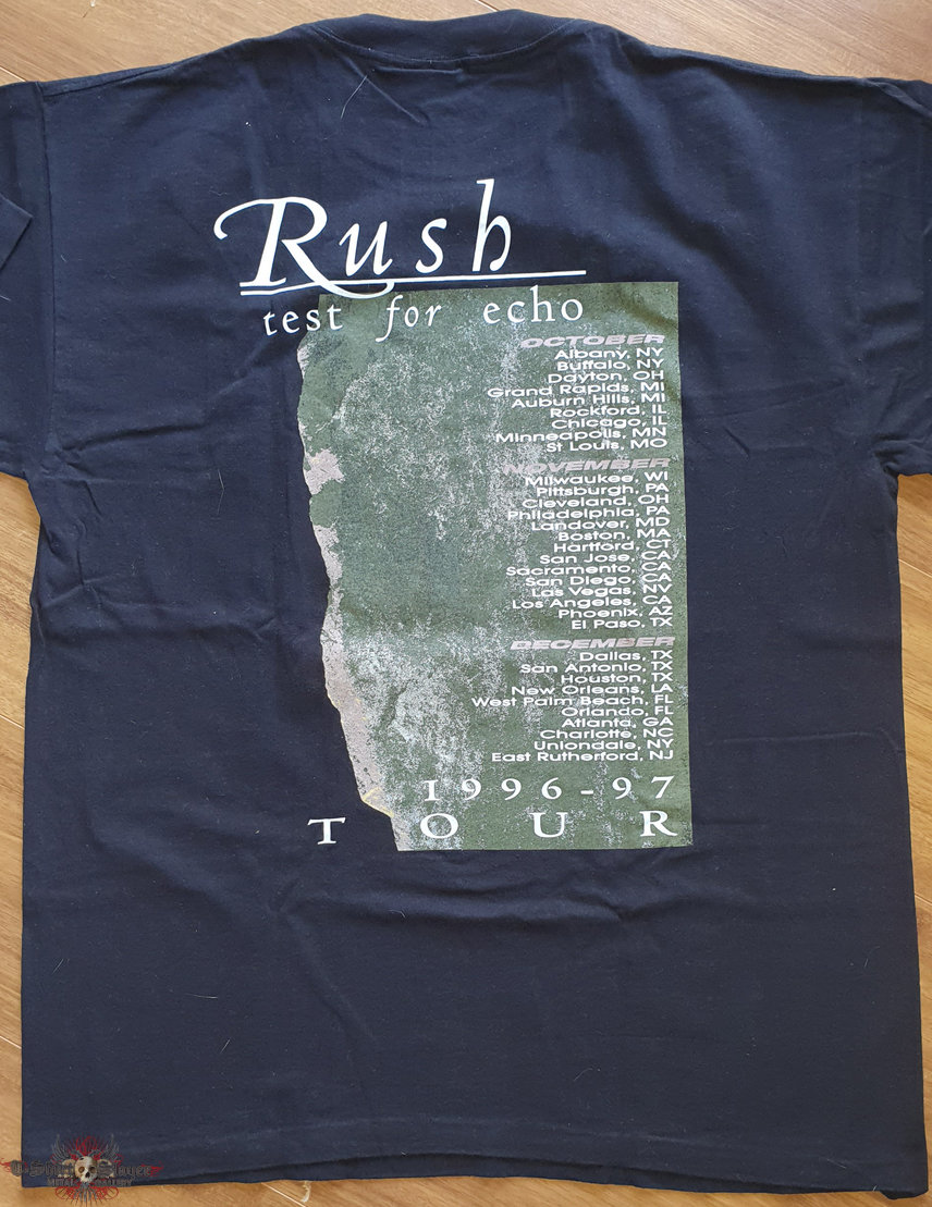 Rush - Test for echo - original tourshirt