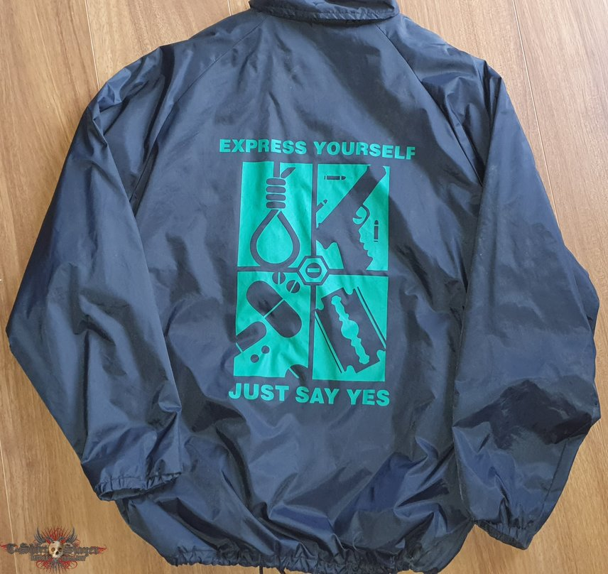"""Express yourself - just say yes"" - Windbreaker Jacket"