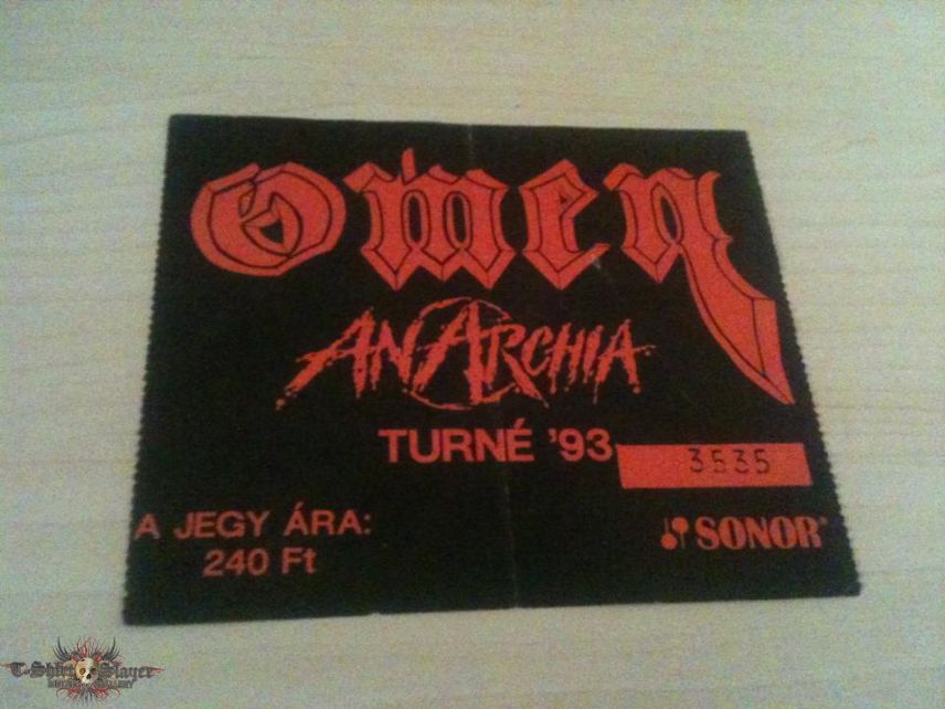 Hungarian metal tickets from the early '90s