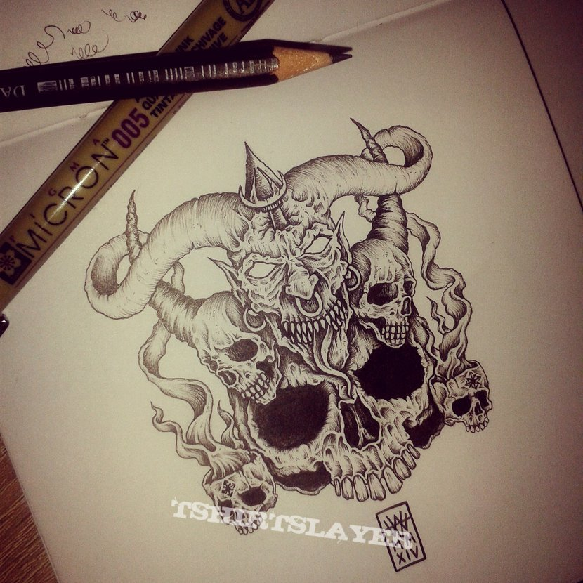 Bolt Thrower 'Cenotaph' drawing